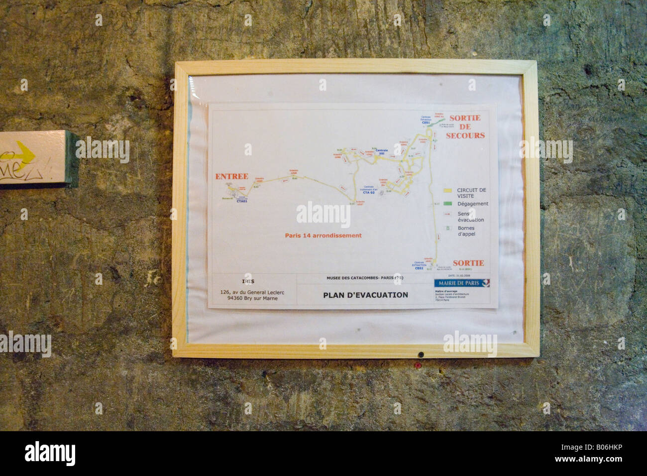 Map Of The Catacomb S Paris France Stock Photo 17355962 Alamy