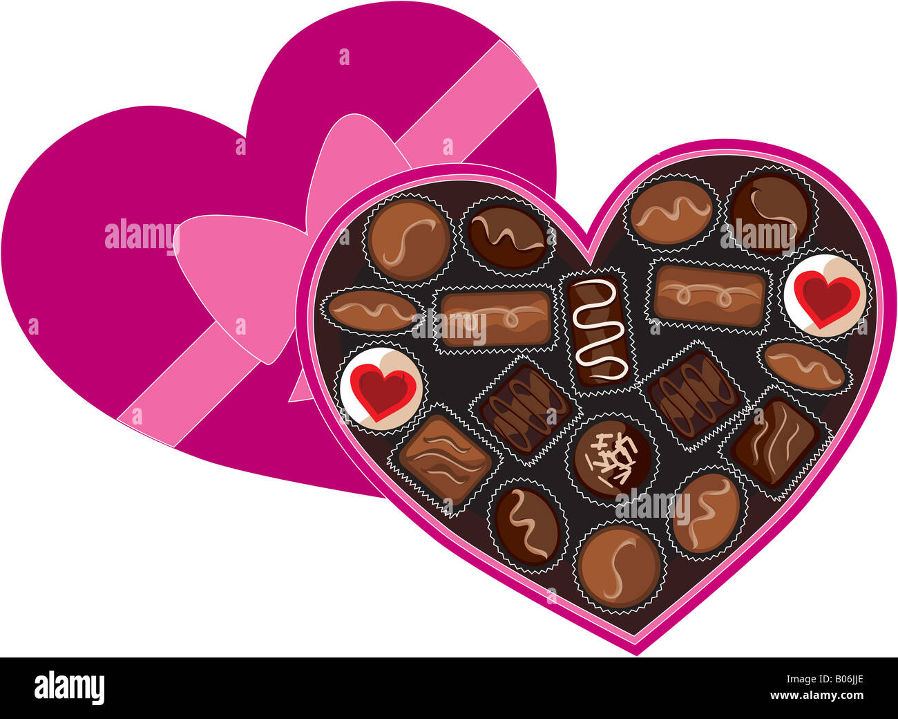 Heart Box Ribbon Chocolates Valentine Stock Photos Heart Box