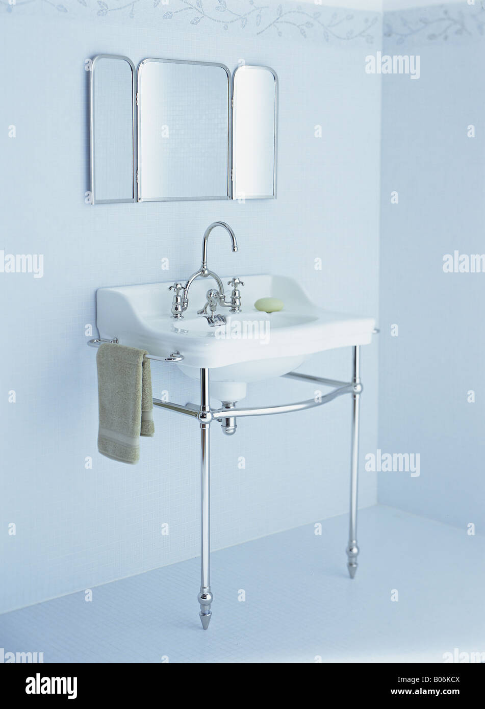 Blue Tile Bathroom Stock Photos & Blue Tile Bathroom Stock Images ...