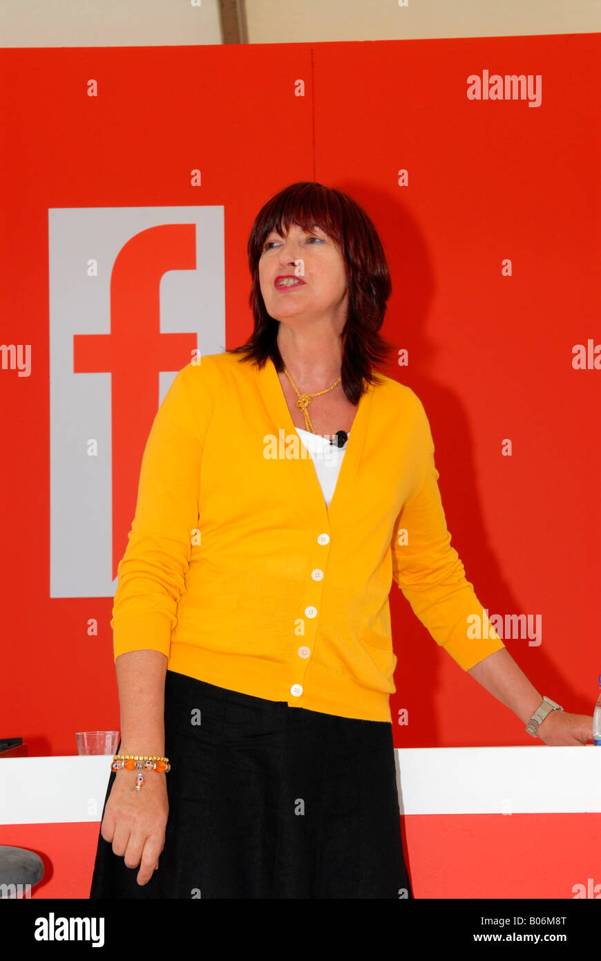 The f Word Live stand  journalist Janet Street-Porter gives hilariously witty talk on her pet hates when visiting - Stock Image