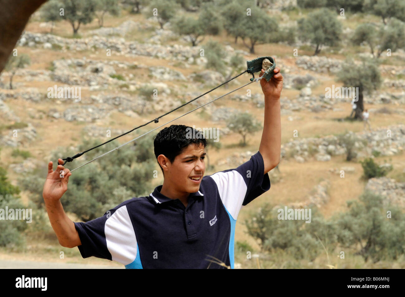 Against During Protest Palestinian Sling Shot Shooting A Child xZAwqW0