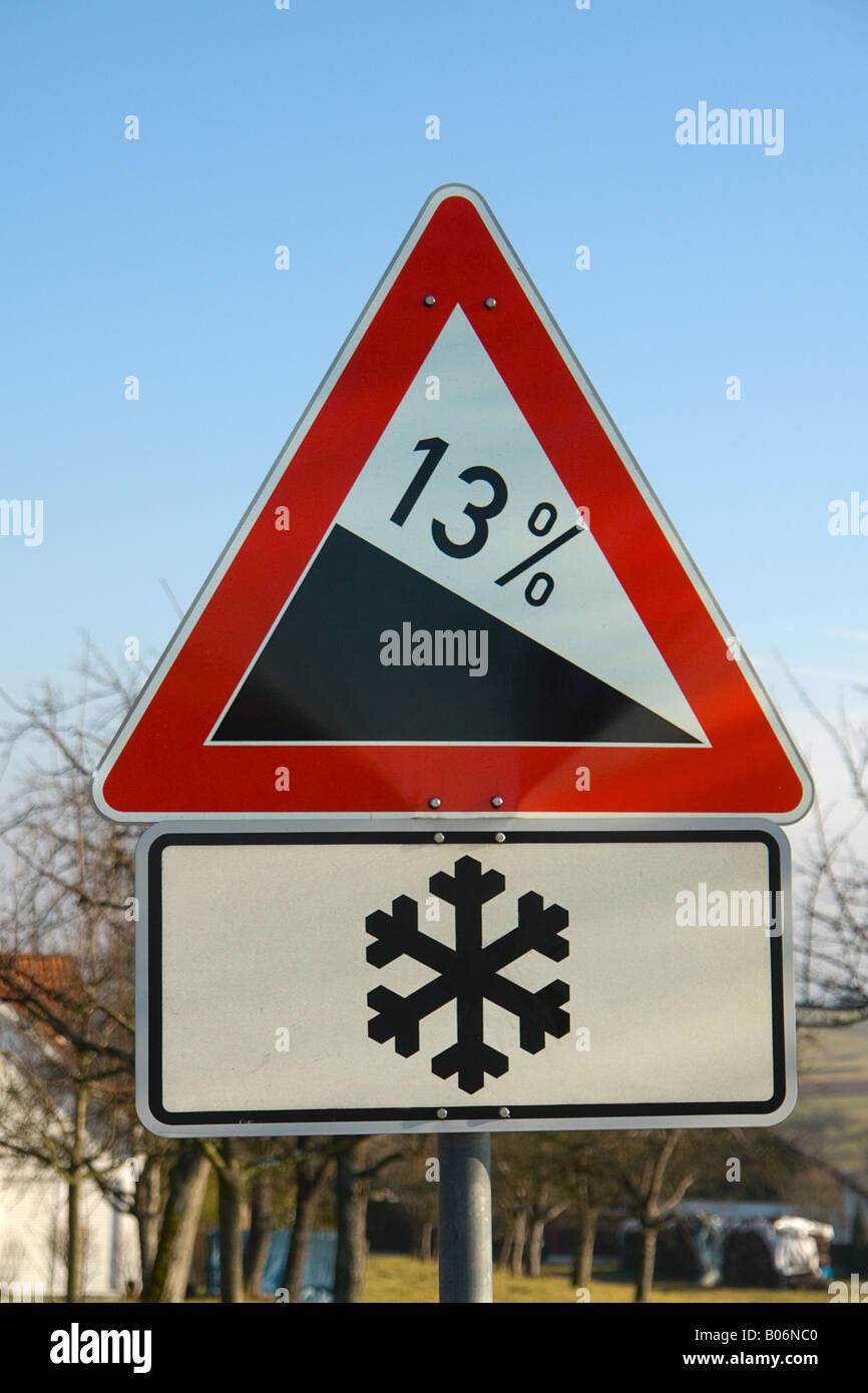 Roadsign Gap Ice - Stock Image