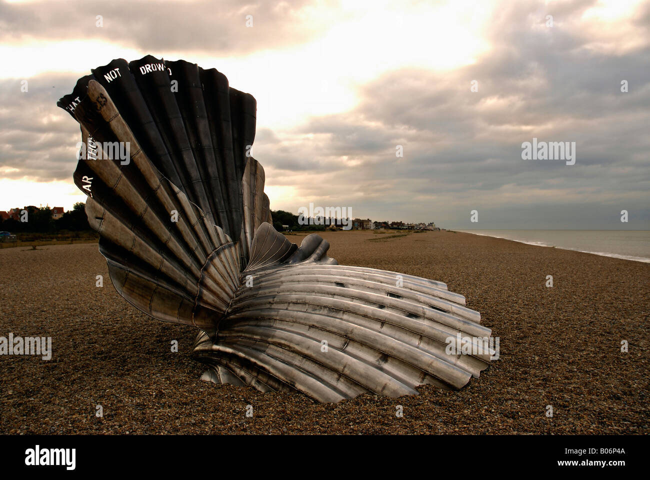 Scallop Sculpture. - Stock Image