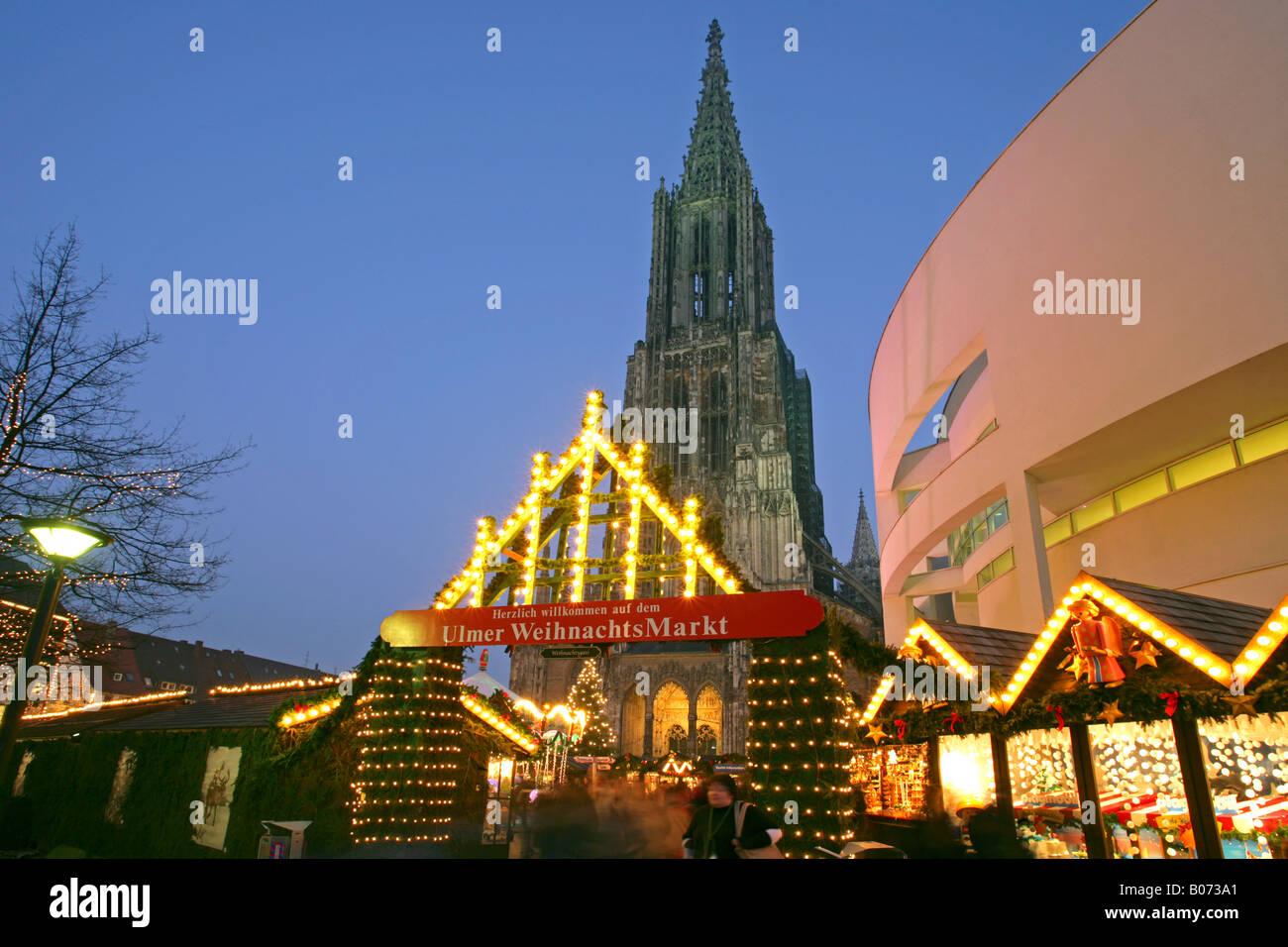 Ulm Weihnachtsmarkt.Weihnachtsmarkt Christmas Market In Ulm Stock Photo 17366665 Alamy