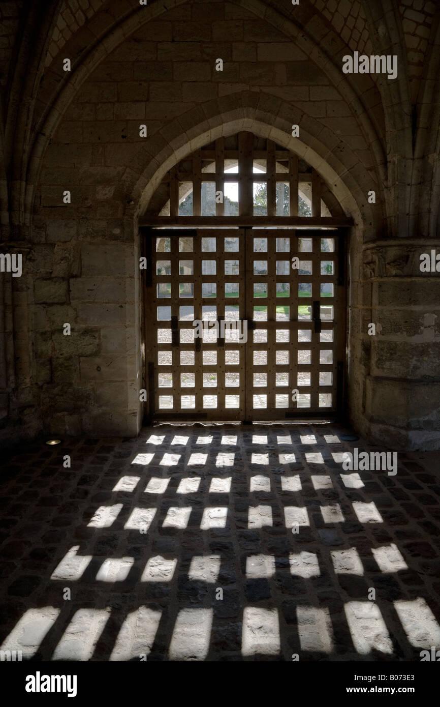 Benedictine Abbaye de Jumièges in Jumieges Normandie France - Stock Image