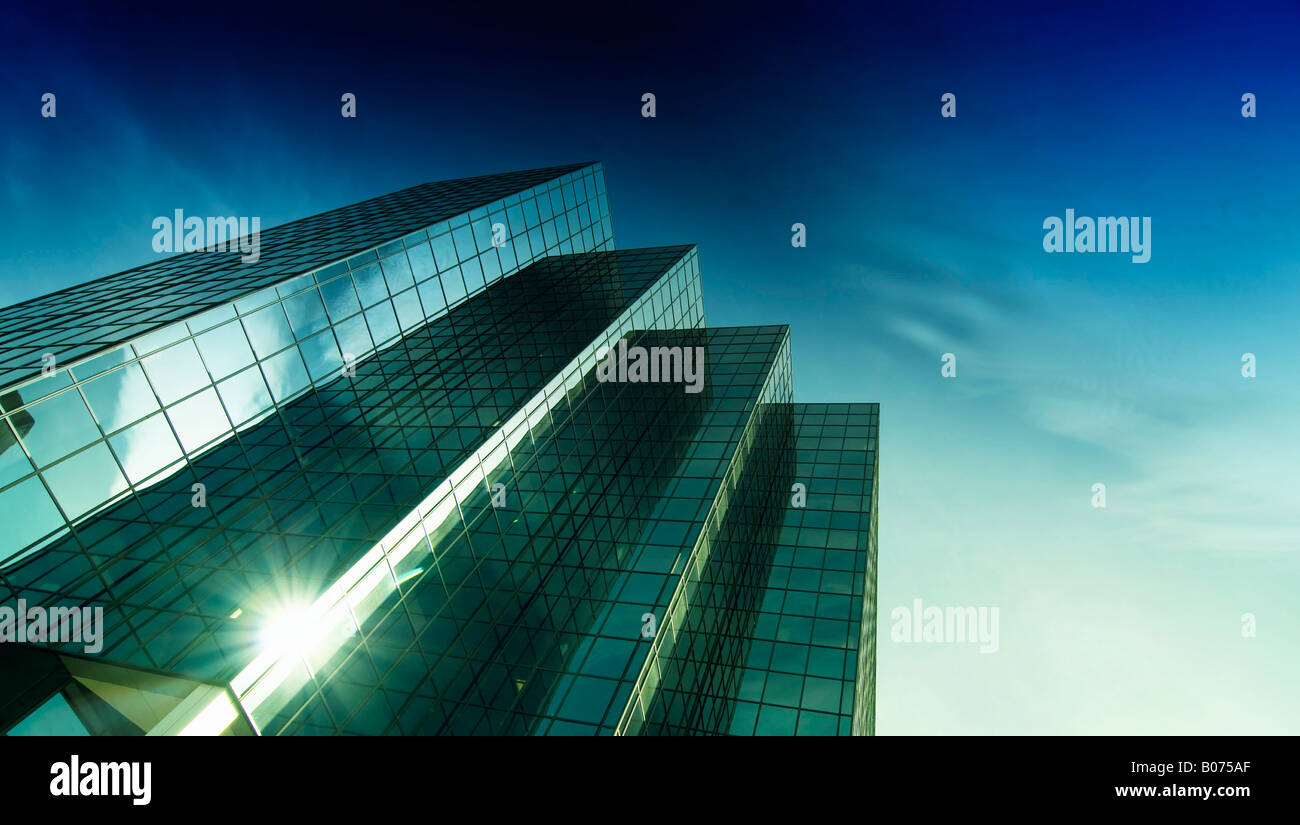 Modern High Rise Office Tower - Stock Image
