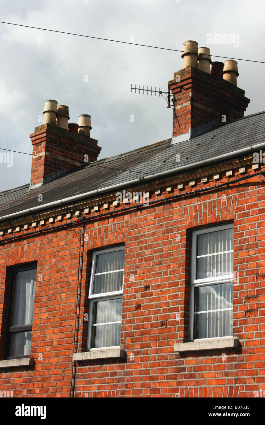 Elegant Roof Top Of Red Brick Terraced Houses, Armagh City, Northern Ireland