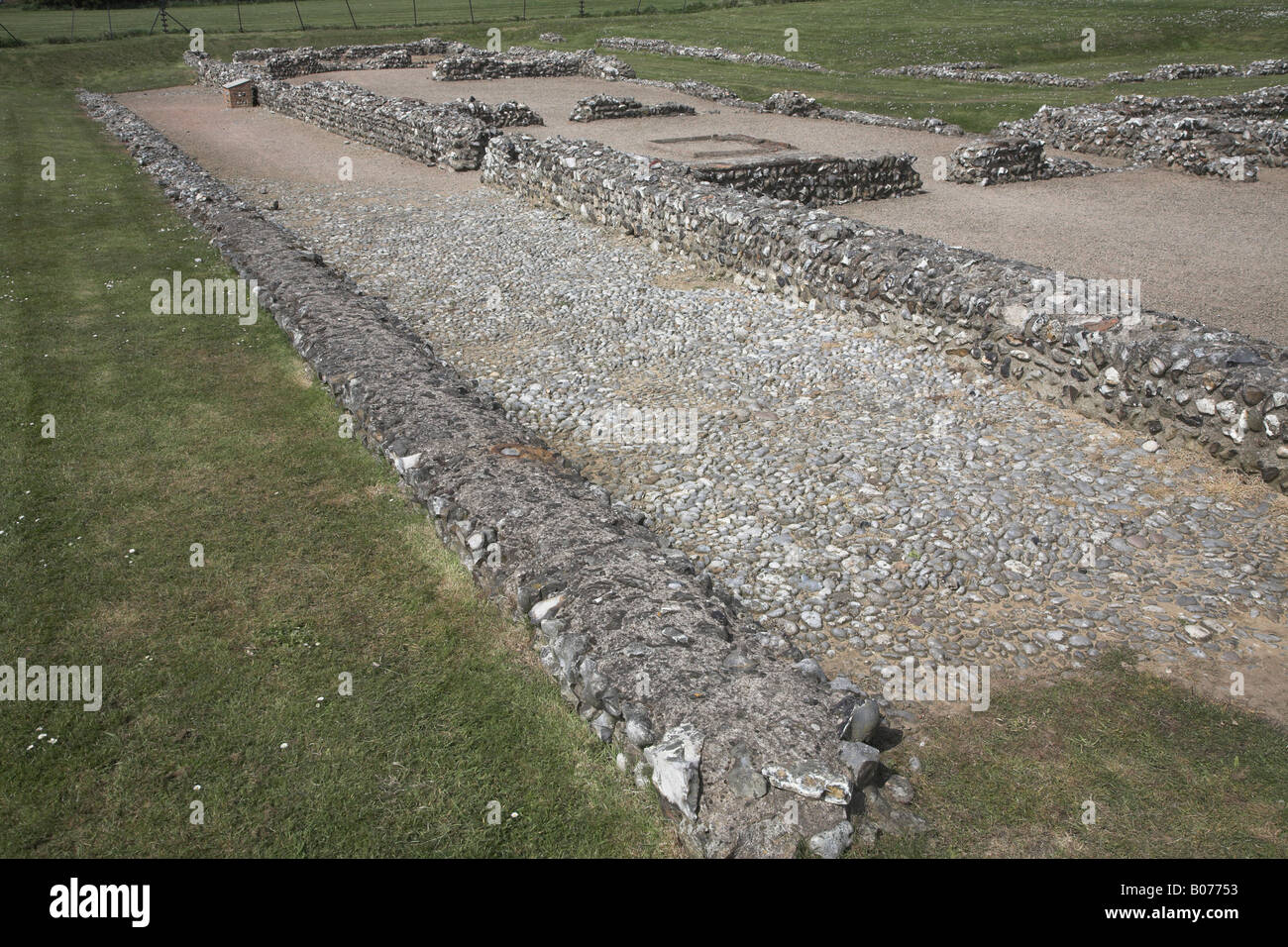 Caister Roman fort, Caister, Norfolk, England Stock Photo
