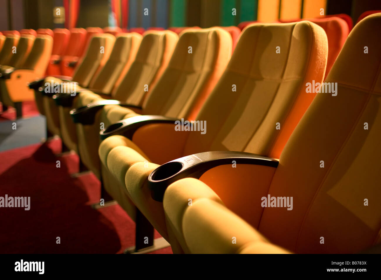Row of chairs - Stock Image