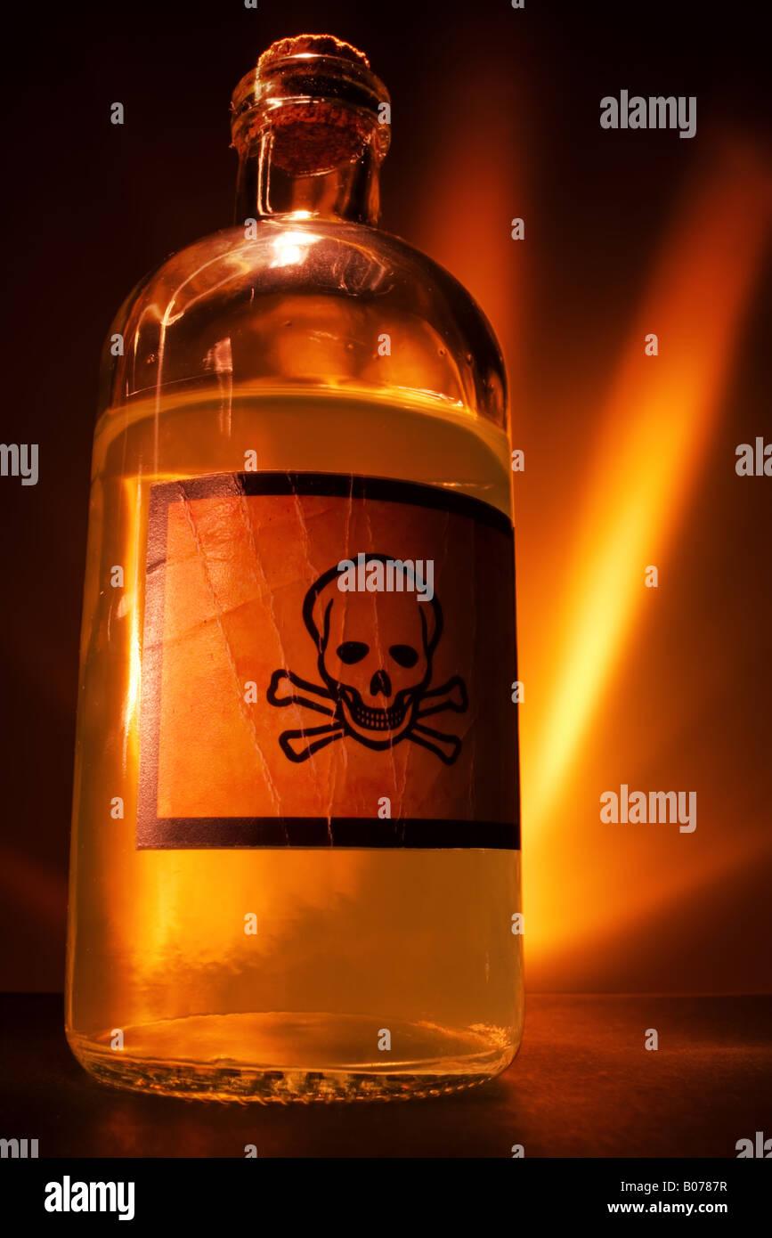 Poison bottle - Stock Image