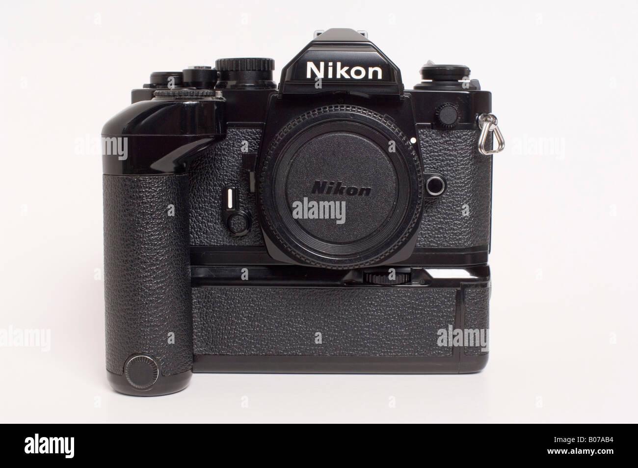 Nikon Fm2 Slr 35mm Film Camera And Motordrive Stock Photo 17372184