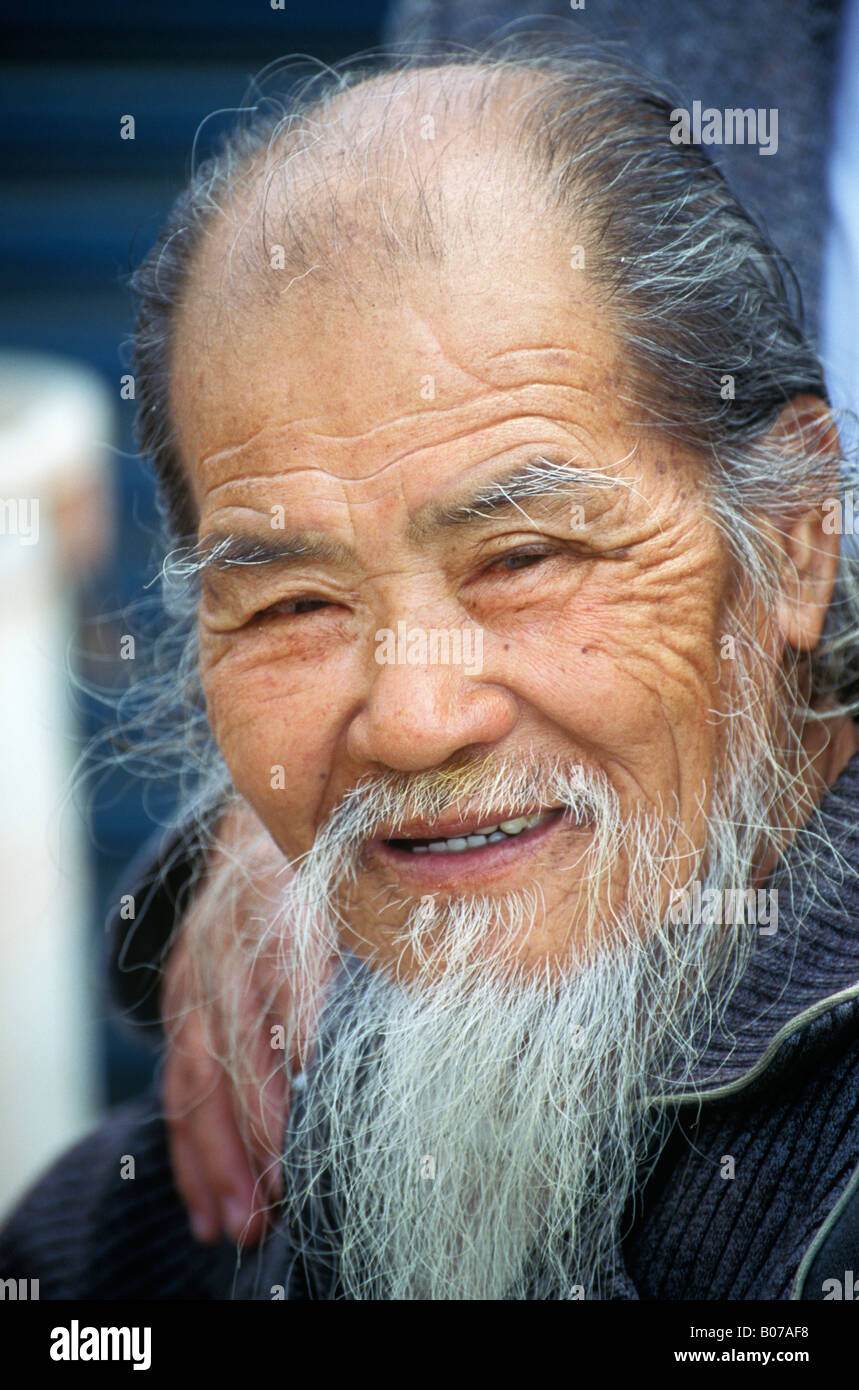 Old Chinese Asian Wise Man Portrait
