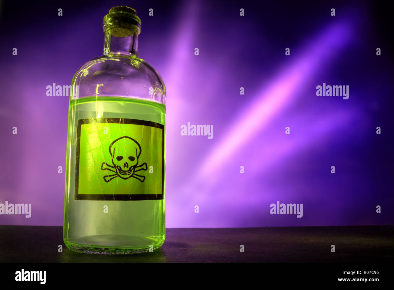 Poison bottle - Stock Image