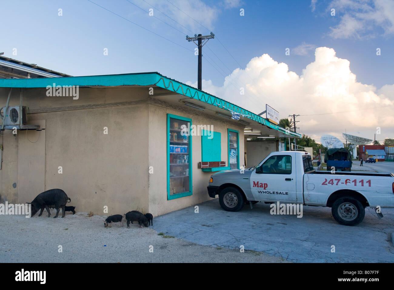 Darrit Village, Majuro Atoll, Marshall Islands - Stock Image