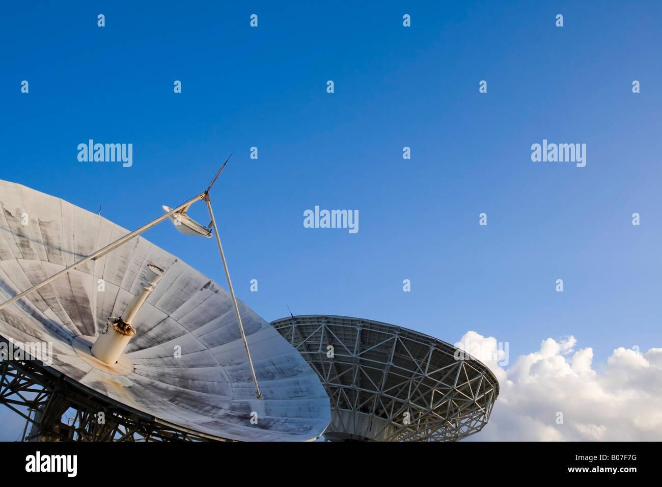 Satellite Station, Majuro Atoll, Marshall Islands - Stock Image