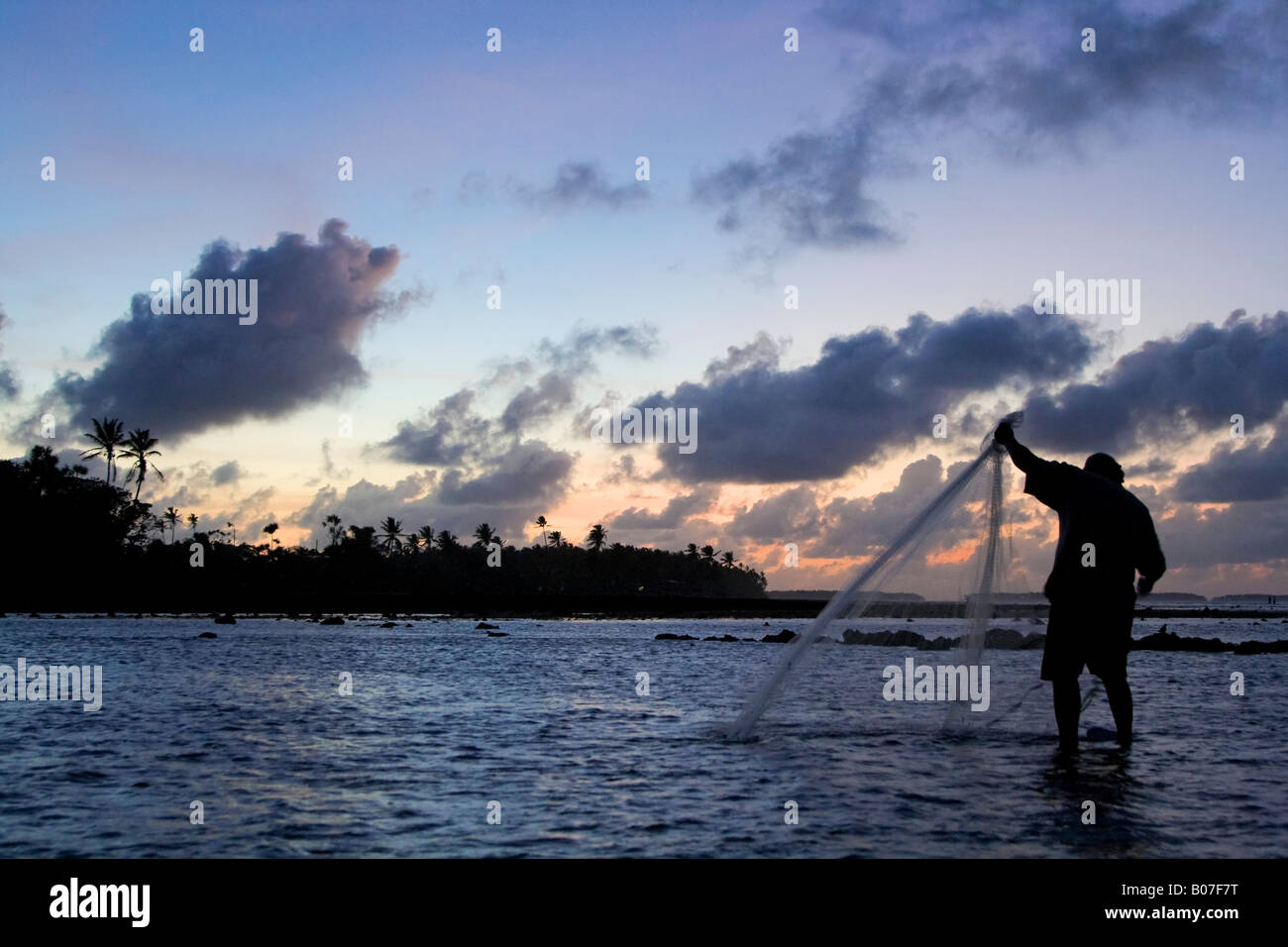 Fisherman, Majuro Atoll, Marshall Islands - Stock Image