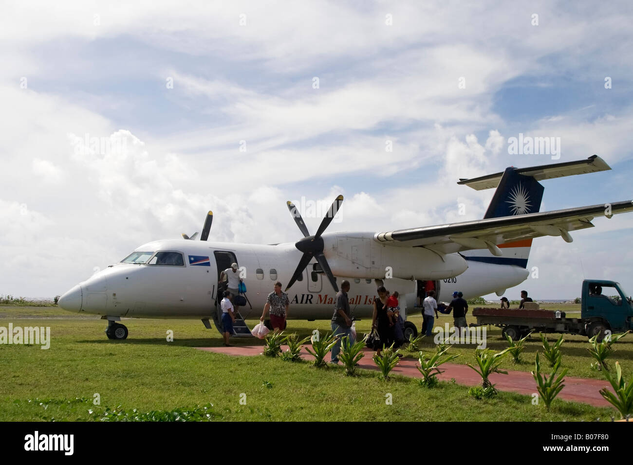 Local Airport, Jaluit Atoll, Marshall Islands - Stock Image