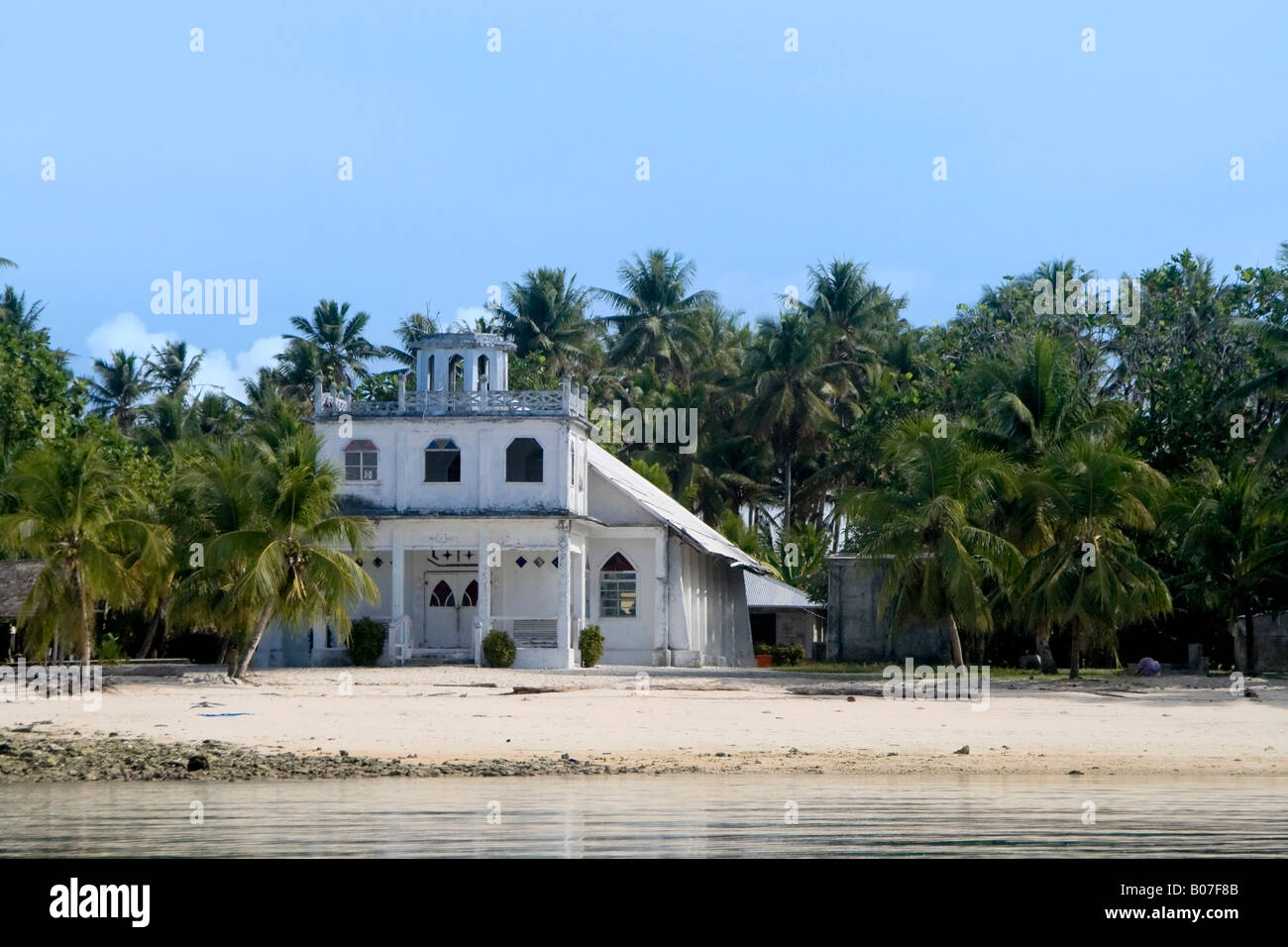 Protestant Church, Jaluit Atoll, Marshall Islands - Stock Image