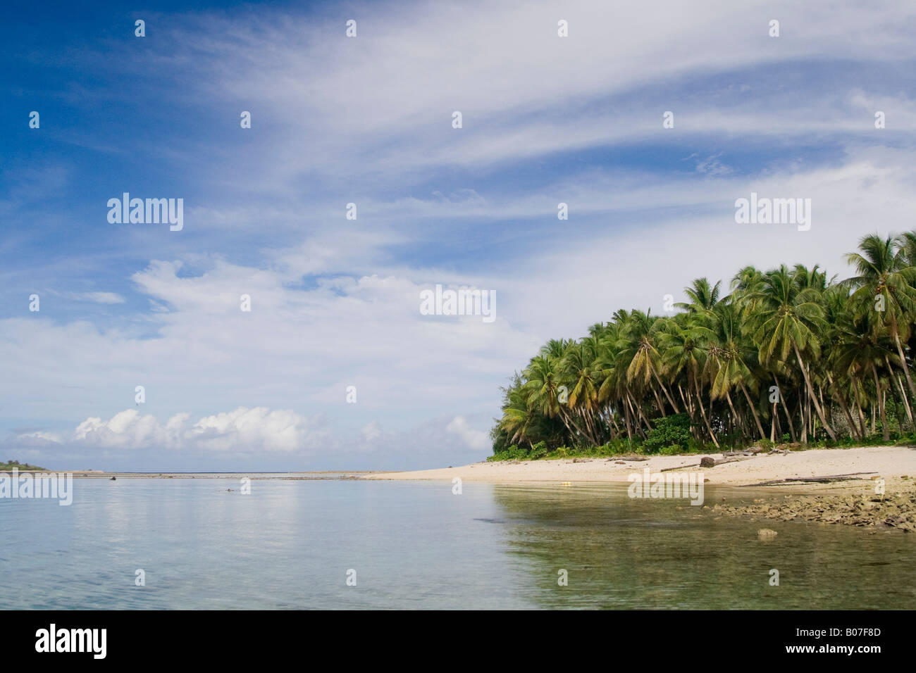 Lagoon, Jaluit Atoll, Marshall Islands - Stock Image