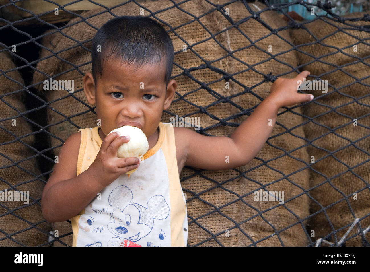 Young child, Jaluit Atoll, Marshall Islands - Stock Image