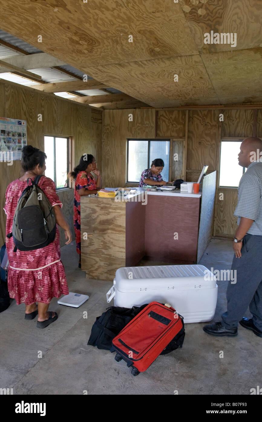 Airport, Jaluit Atoll, Marshall Islands - Stock Image