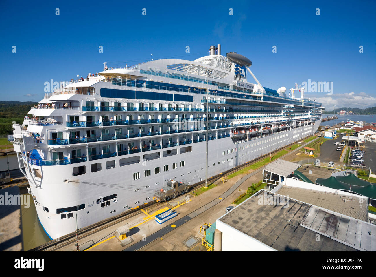 Panama Panama Canal Island Princess Cruise Ship