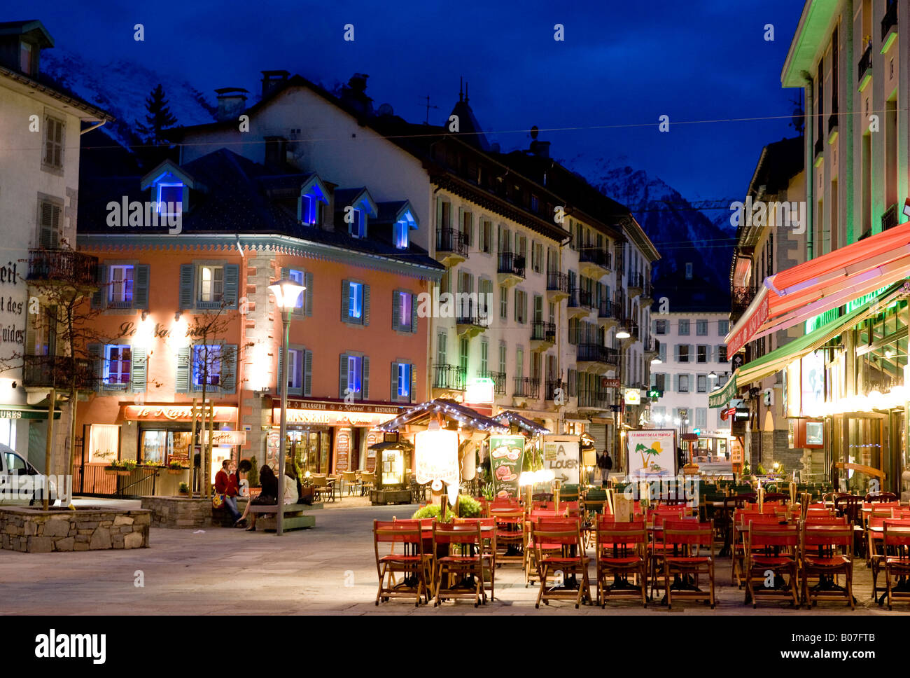 Chamonix Town The Alps France Europe - Stock Image