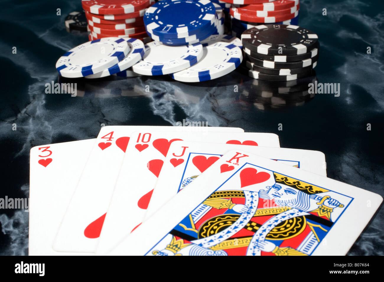 Poker Kartenspiel card game - Stock Image