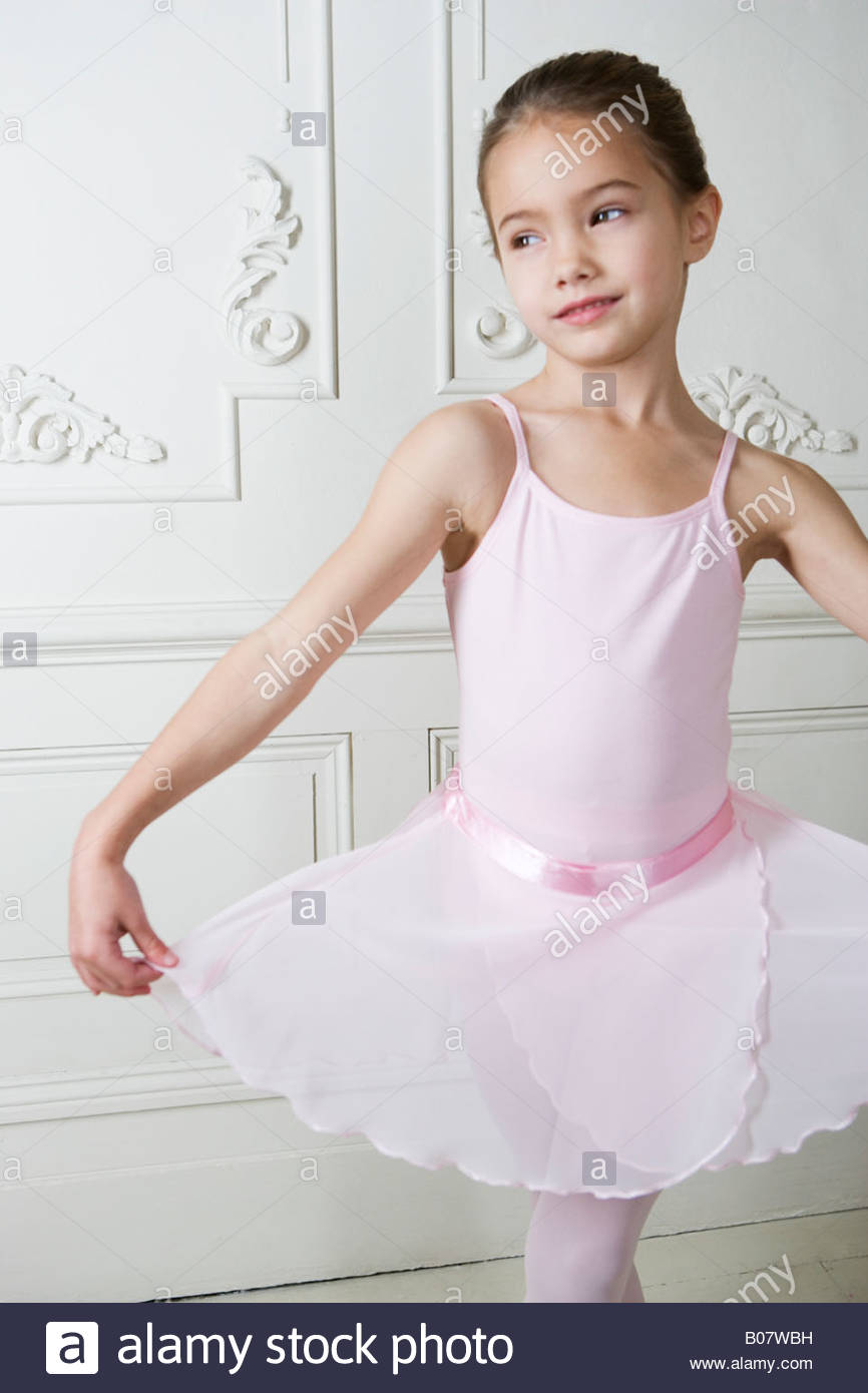 d026c94a9881 Little girl in a ballet pose Stock Photo  17383957 - Alamy