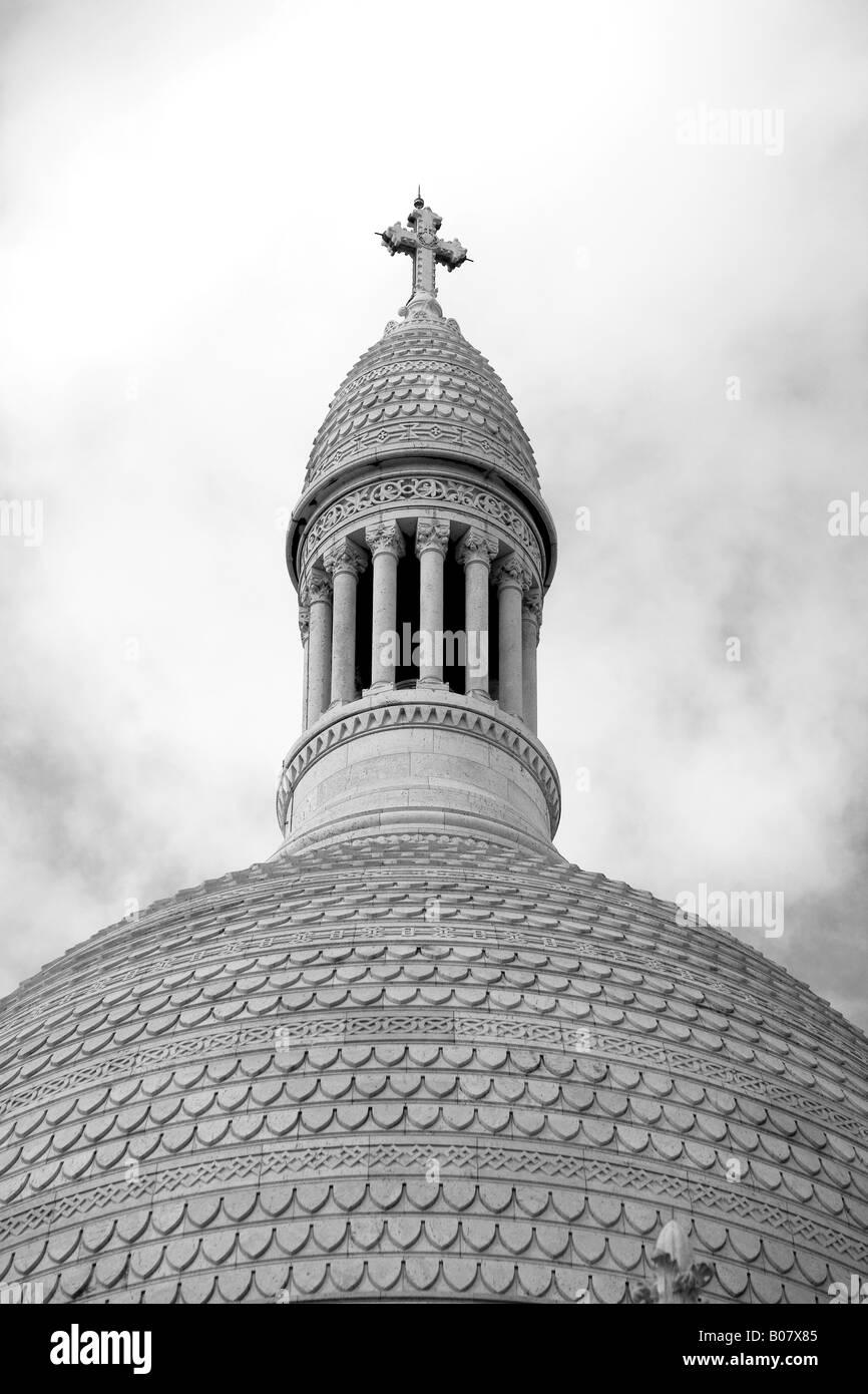 Sacre Coer church at Montmartre in Paris France - Stock Image