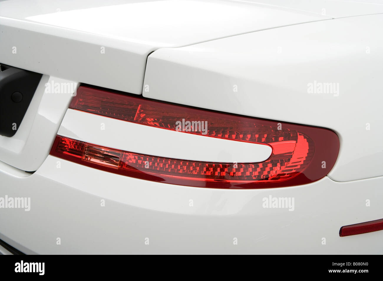 2008 Aston Martin Db9 Volante In White Tail Light Stock Photo