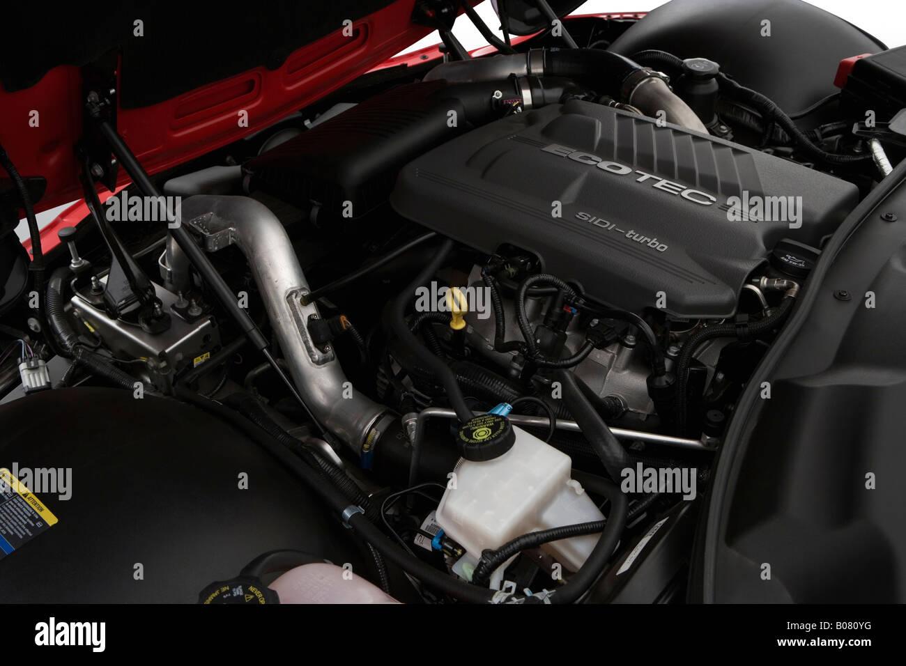 2008 Pontiac Solstice Gxp In Red Engine Stock Photo Alamy