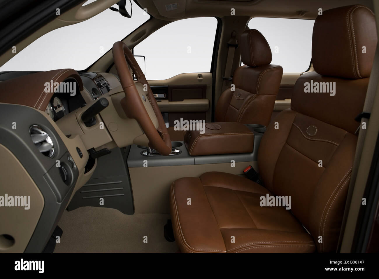 2008 Ford F 150 Lariat King Ranch In Red Front Seats Stock Photo Alamy