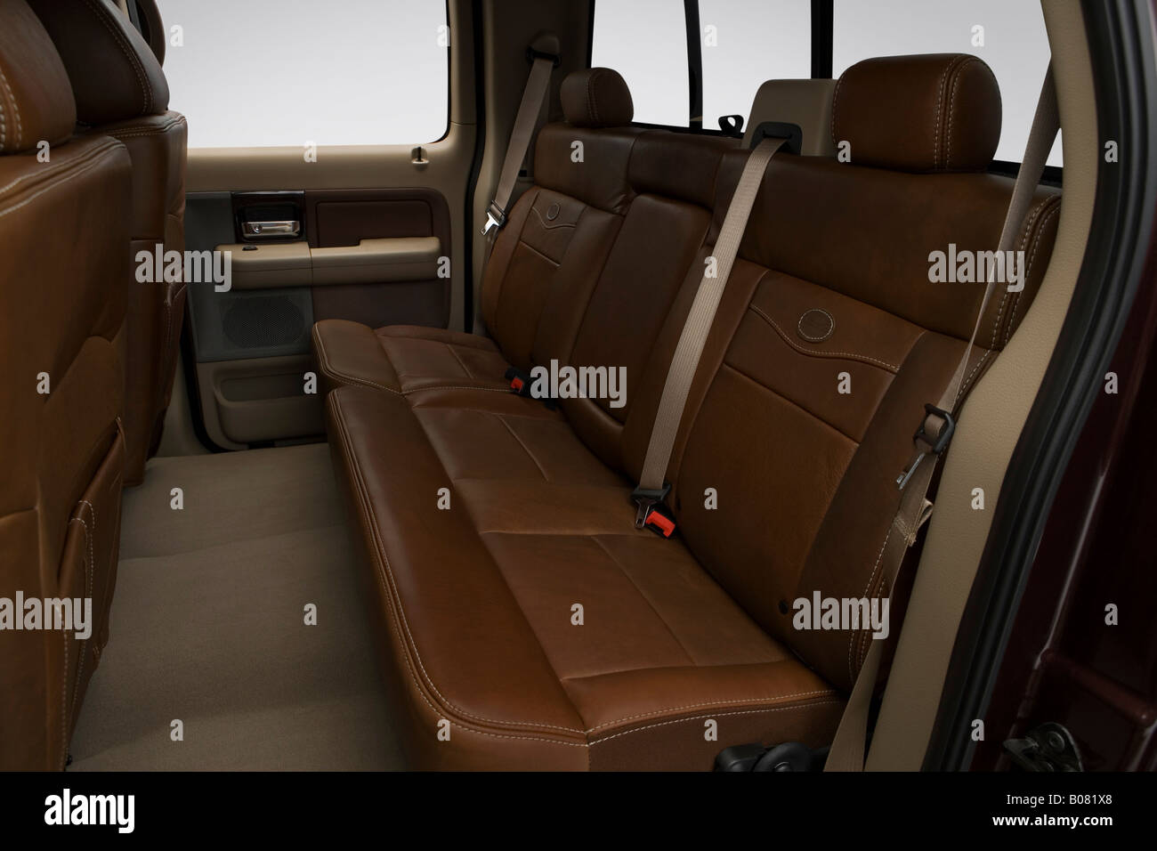 2008 Ford F 150 Lariat King Ranch In Red Rear Seats Stock Photo Alamy