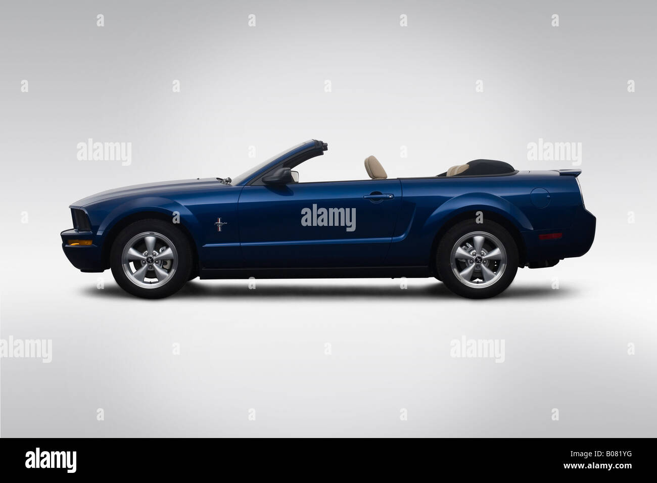 2008 ford mustang v6 premium in blue drivers side profile stock