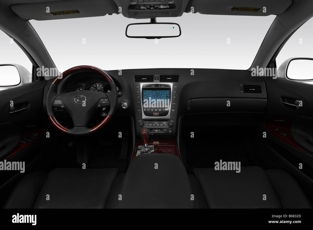 2008 Lexus GS GS450h in Gray - Dashboard, center console, gear Stock ...