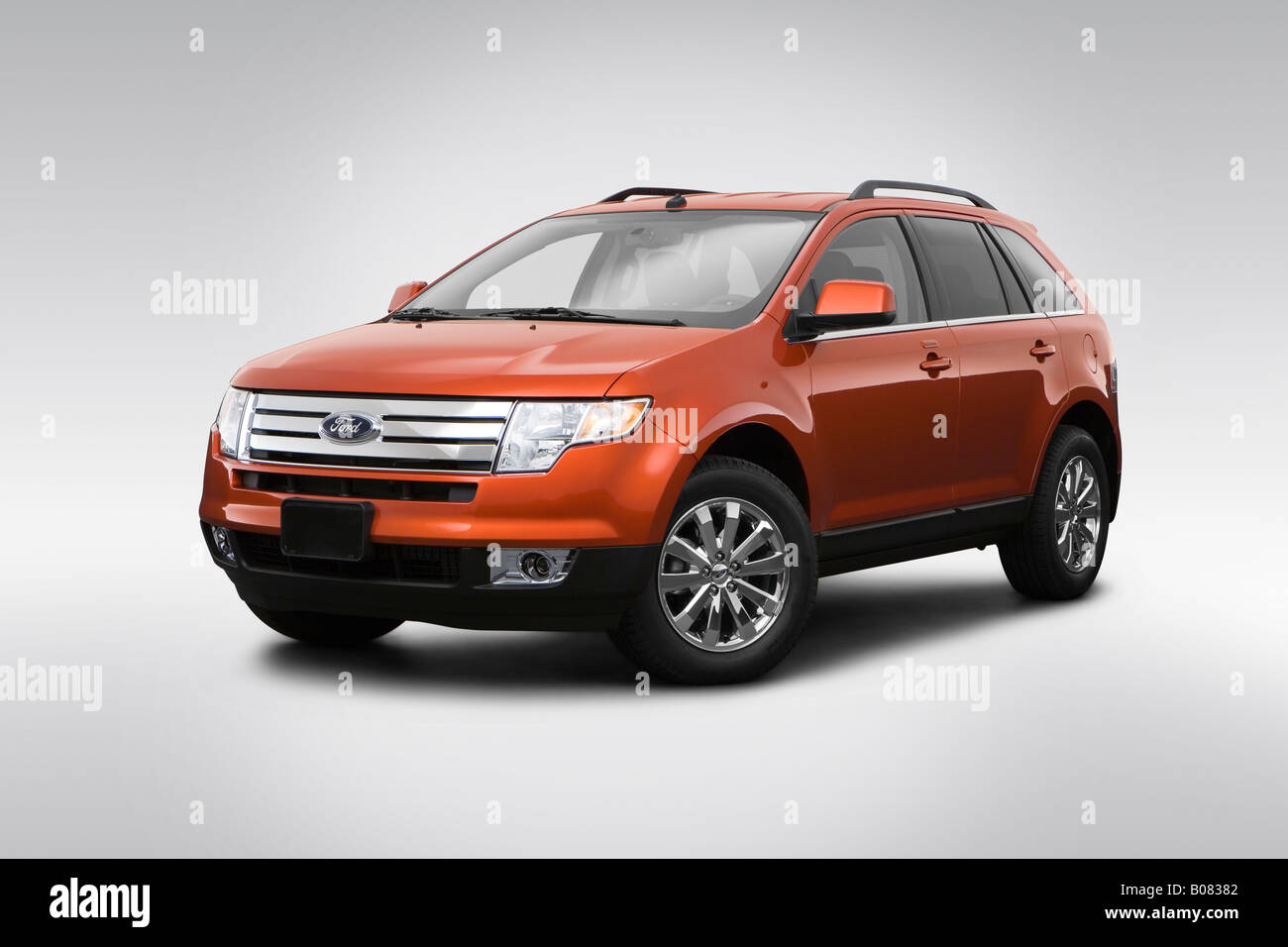 2008 ford edge limited in orange front angle view
