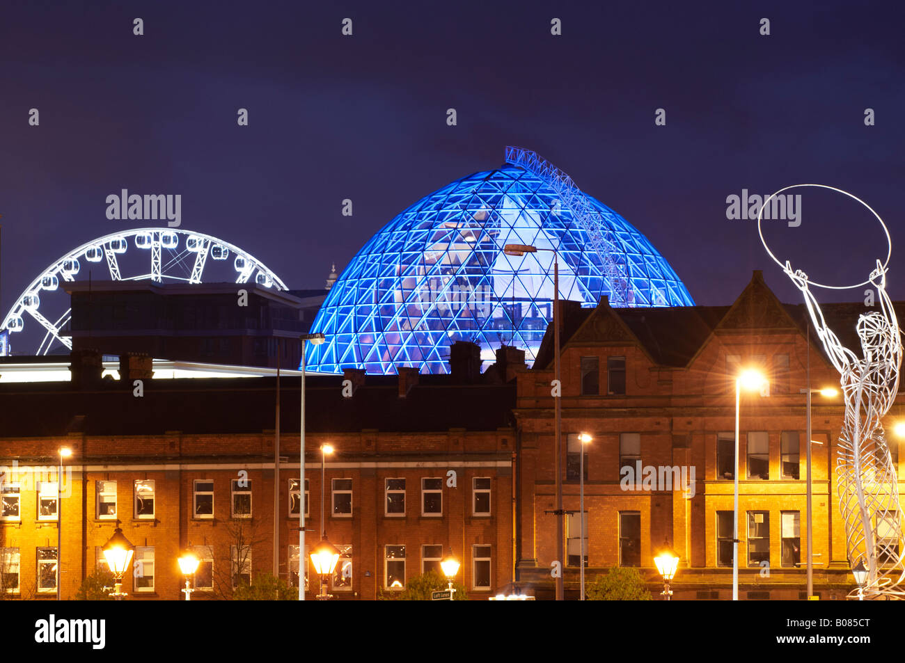 City of Belfast Landmarks - Stock Image