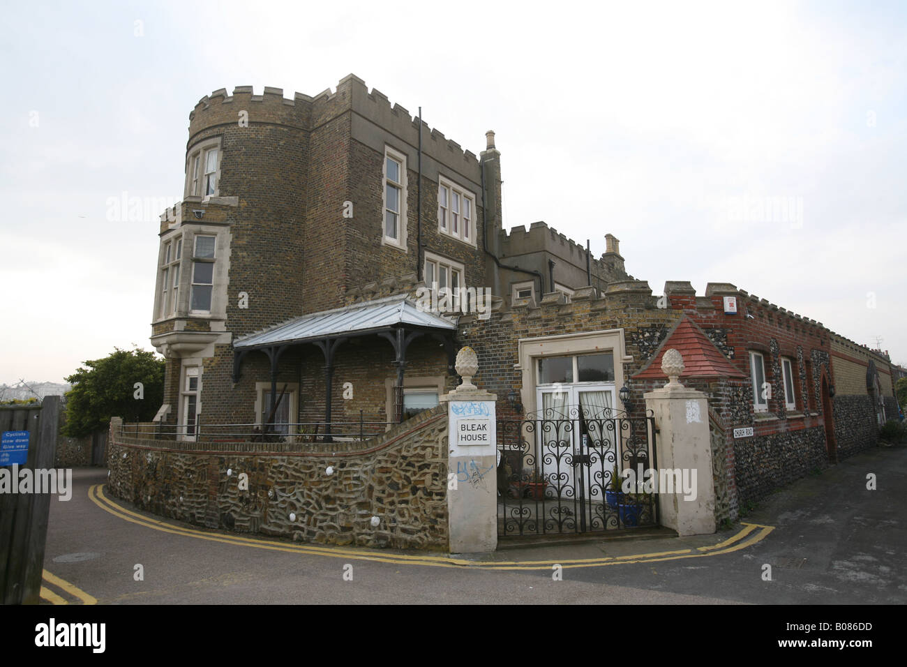 Pic By Paul Grover Pic Shows Bleak House in Broadstairs on the Kent Coast - Stock Image