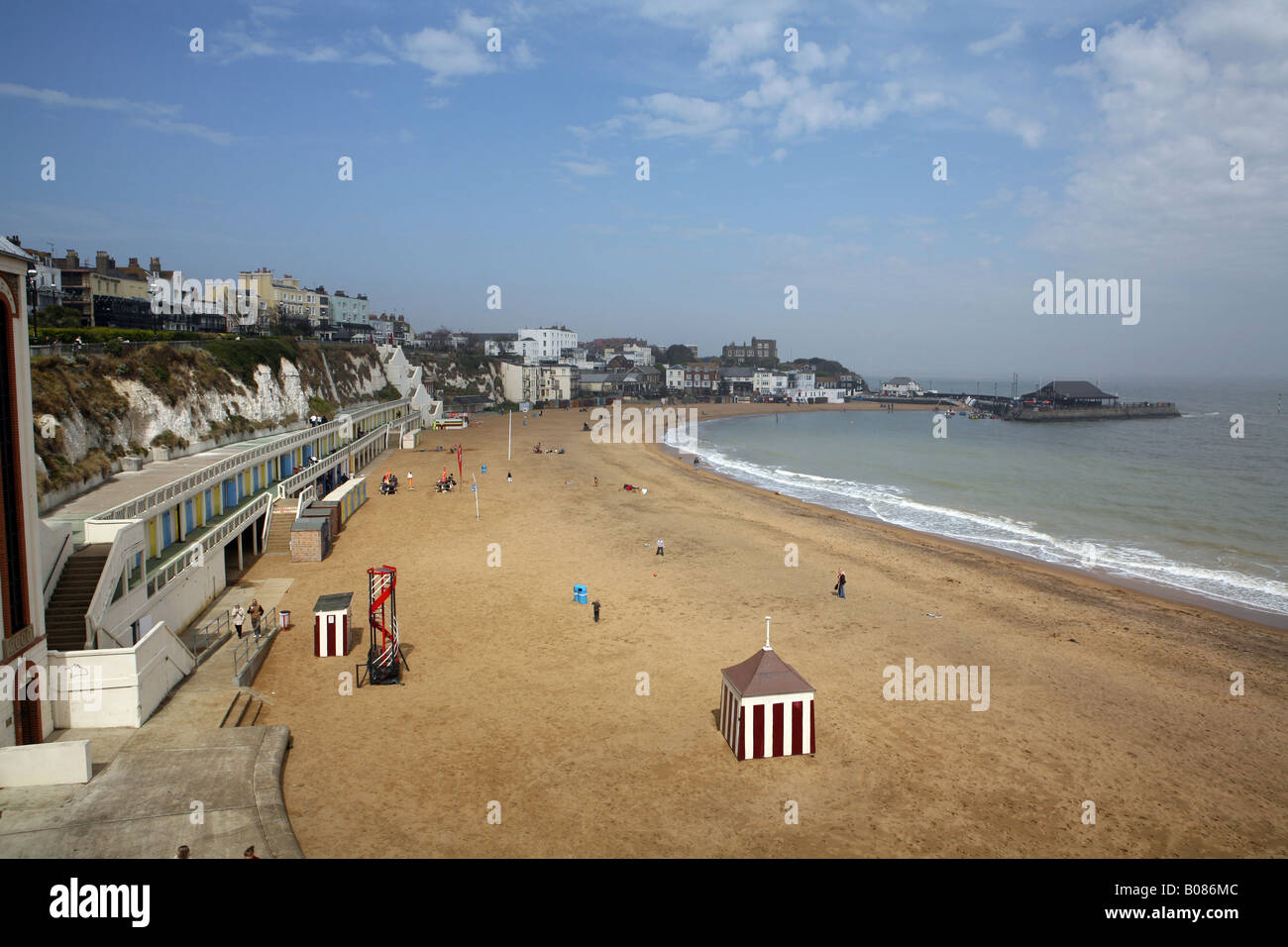 Pic By Paul Grover Pic Shows Viking Bay in Broadstairs on the Kent Coast - Stock Image