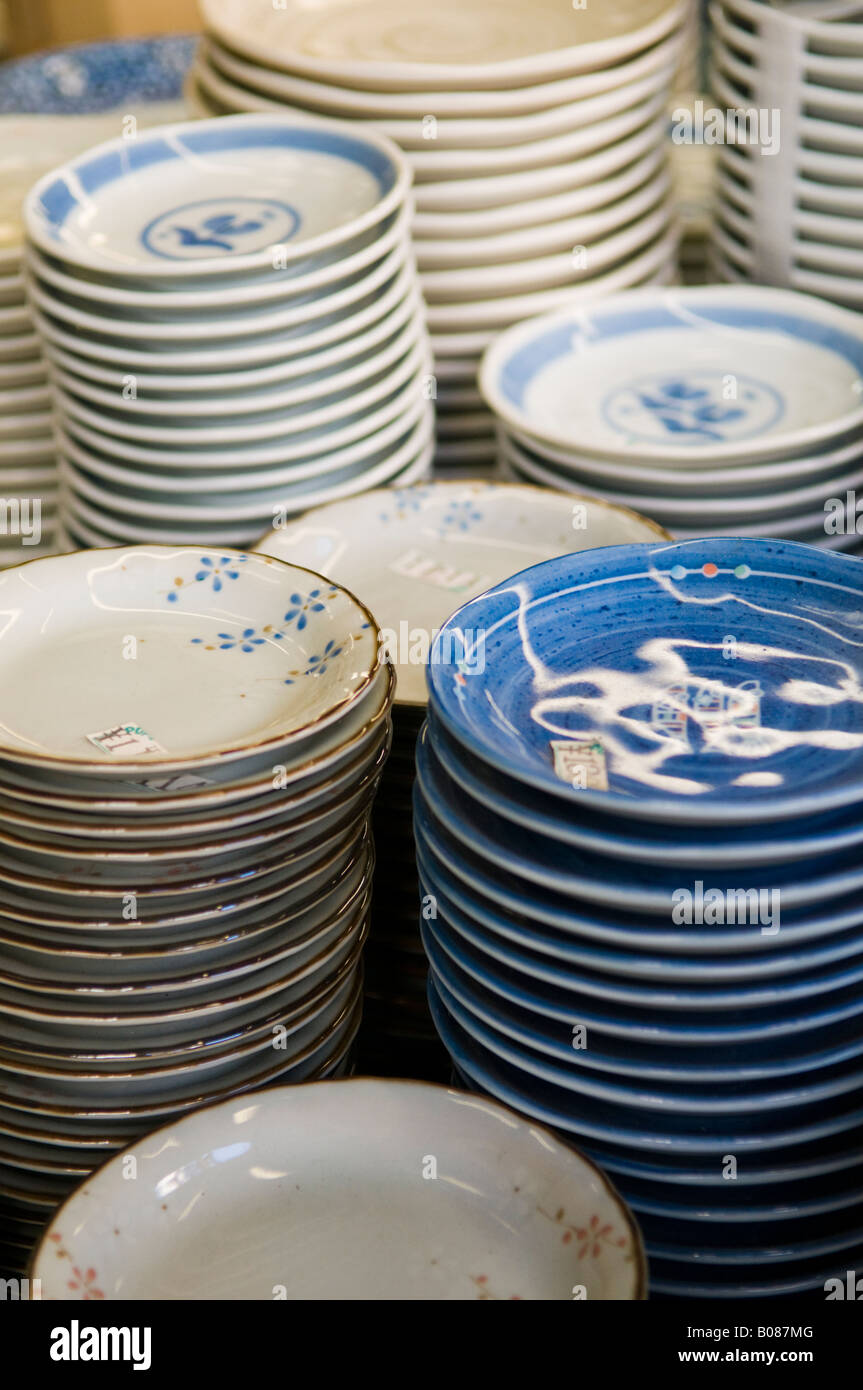 Ceramic plates for sale in the Kappabashi restaurant supply district of Tokyo Japan  & Ceramic plates for sale in the Kappabashi restaurant supply district ...