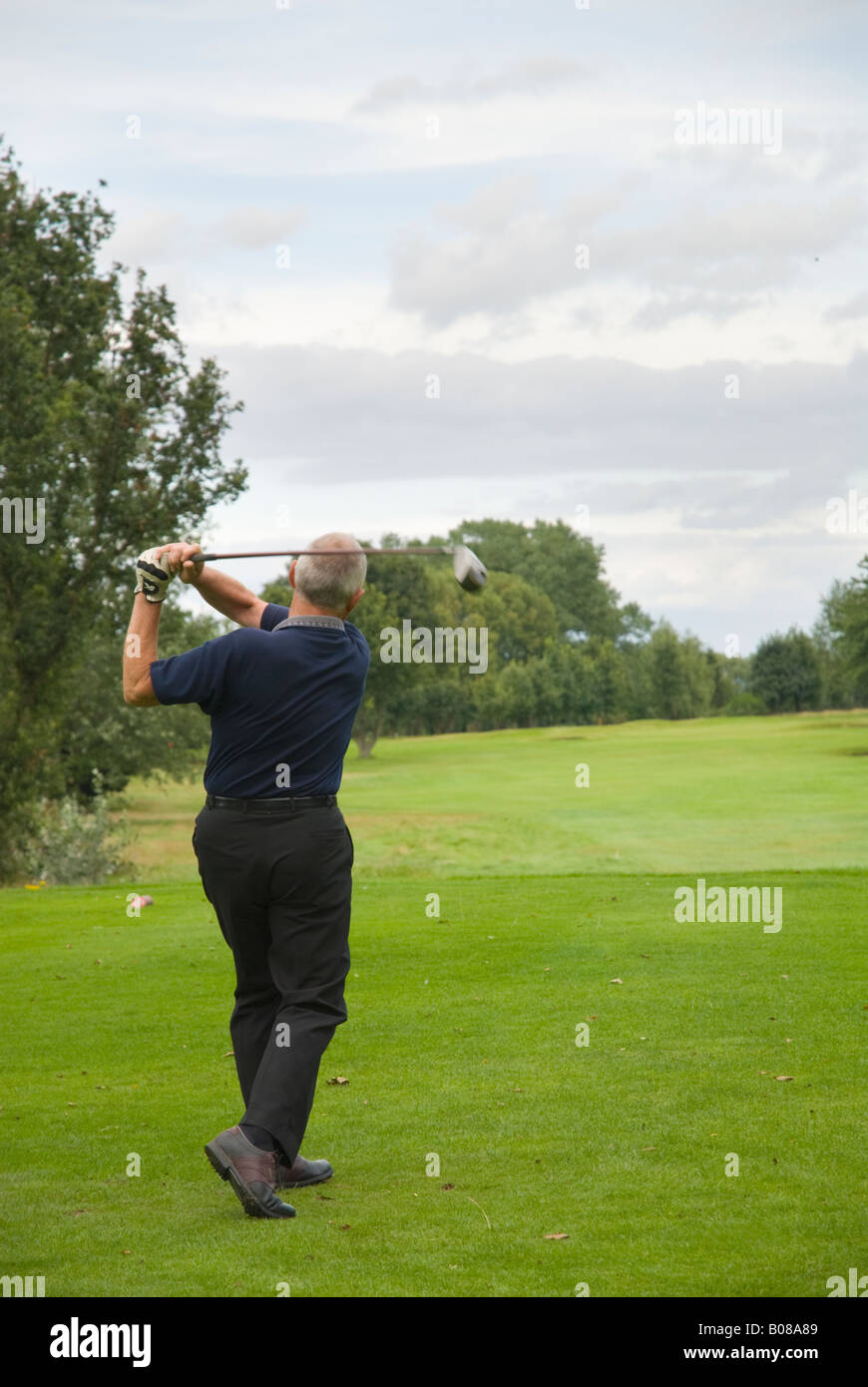 golf for the retired - Stock Image