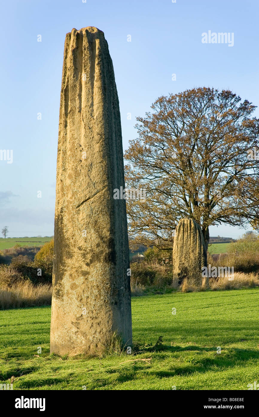 devils arrows - monoliths at boroughbridge - Stock Image