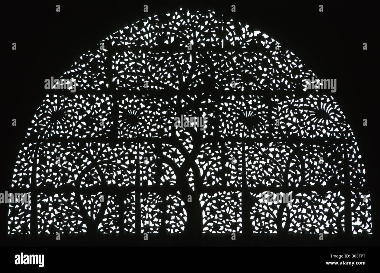 India Gujerat Ahmedabad Sidi Saiyads Mosque window Stock Photo