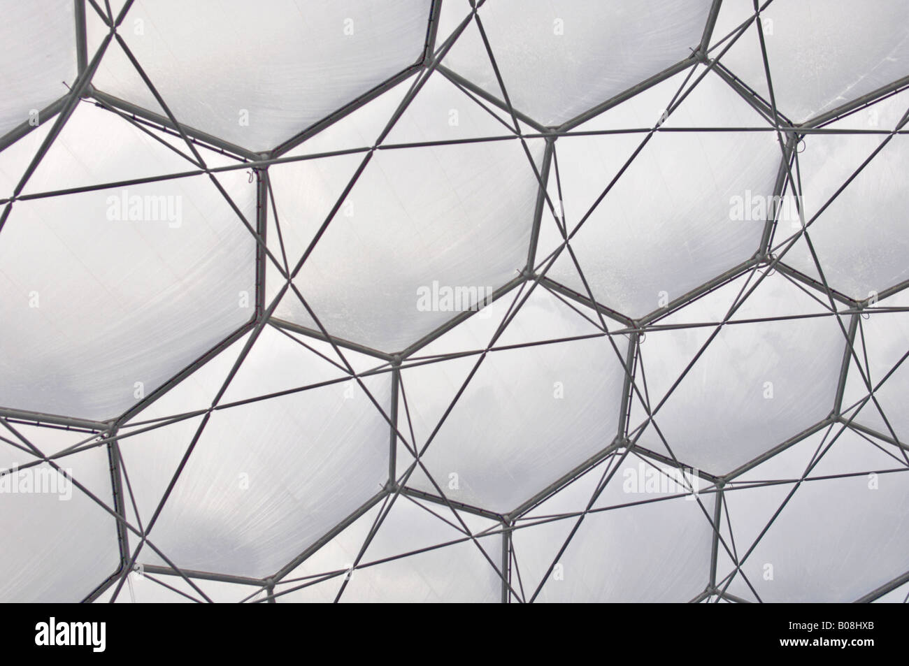 Iron Structure Of The Eden Project Biome Roof In Cornwall England