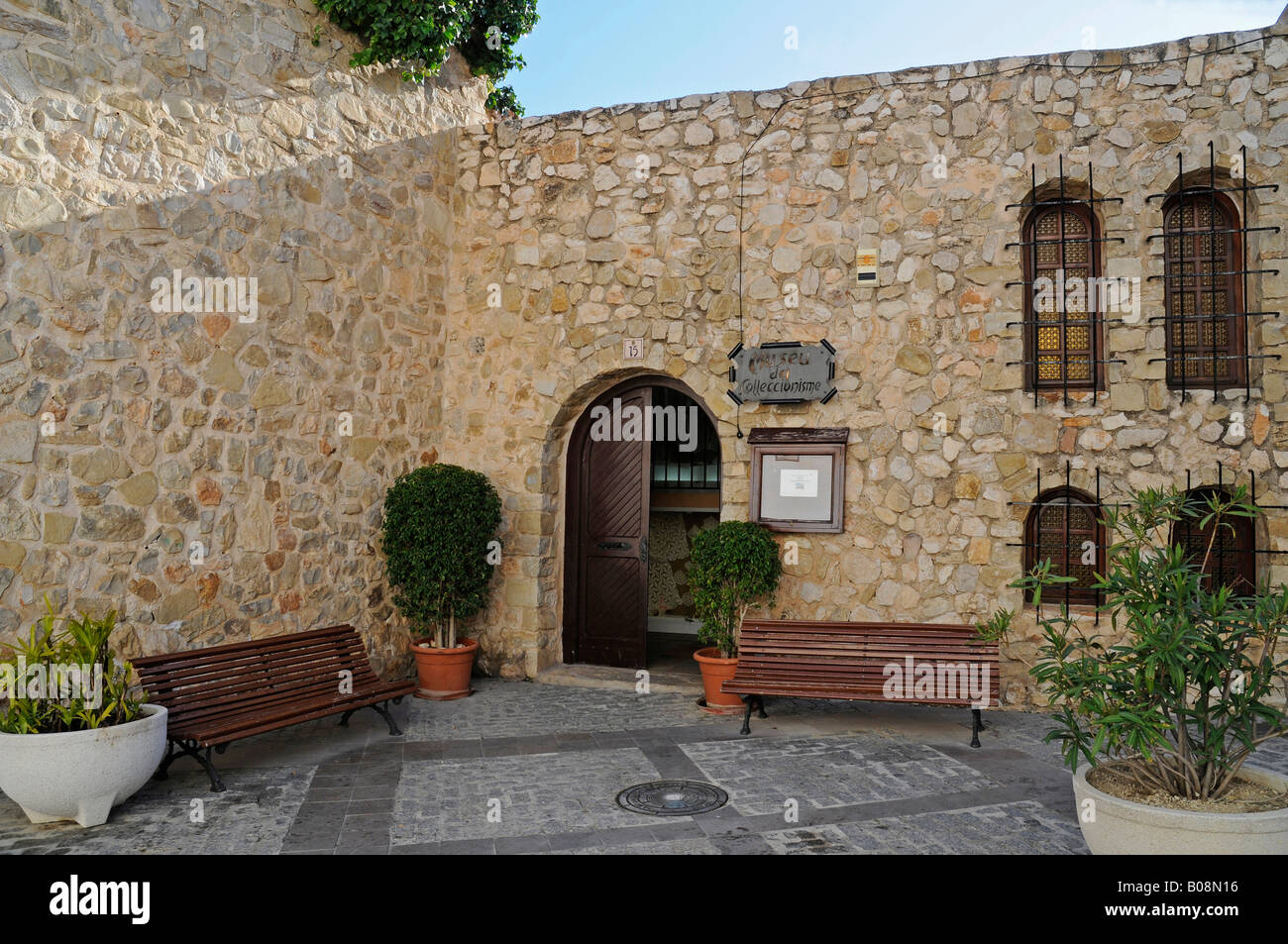 Museum, Collectionnisme, collectible items, old watchtower, Torrero de la Peca, Calpe, Alicante, Costa Blanca, Spain - Stock Image