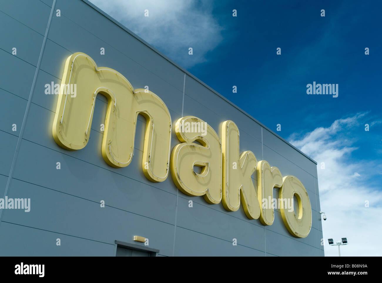Makro store - Stock Image