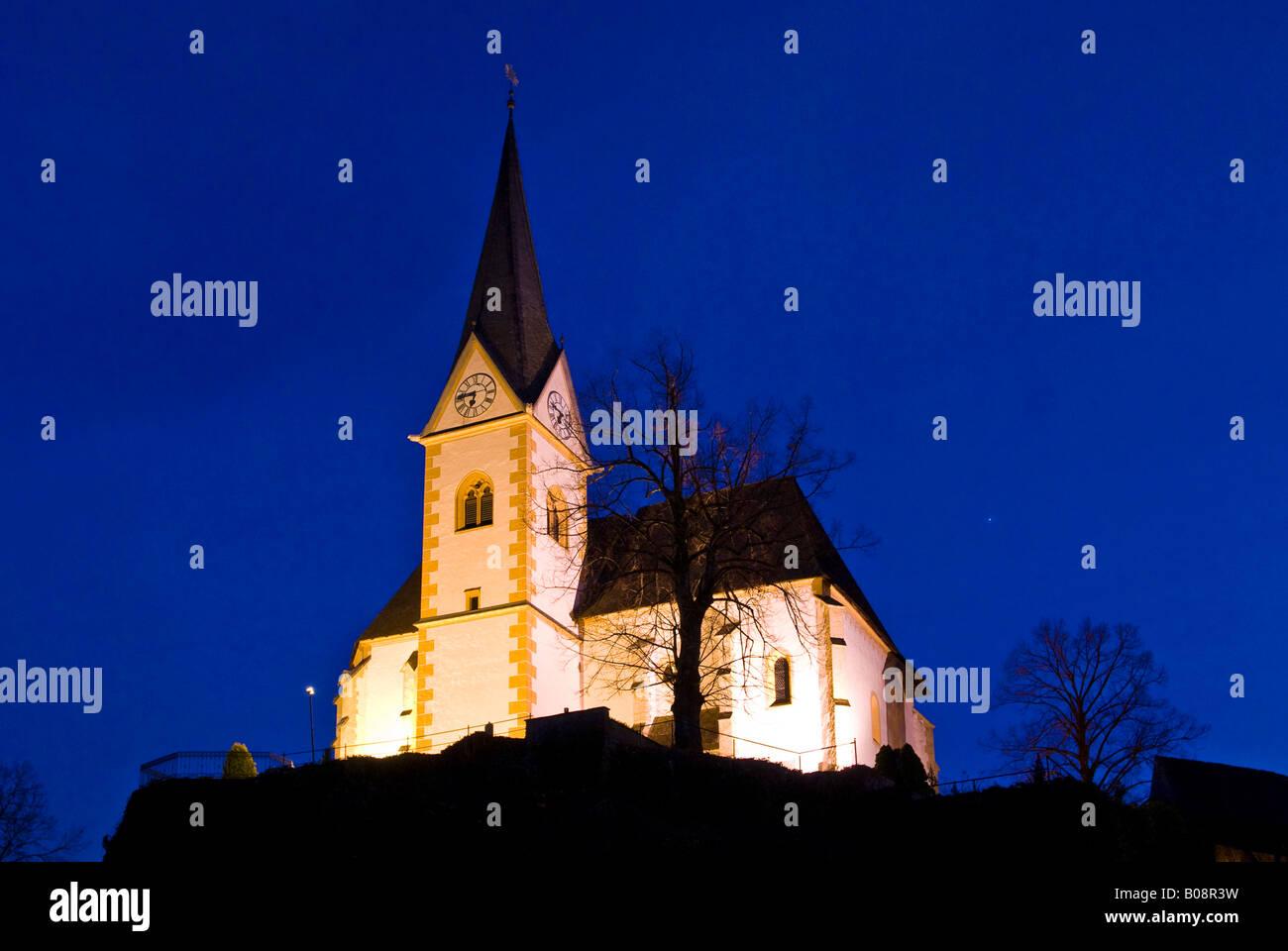 Maria Woerth Church, pilgrimage site in Carinthia, Austria - Stock Image