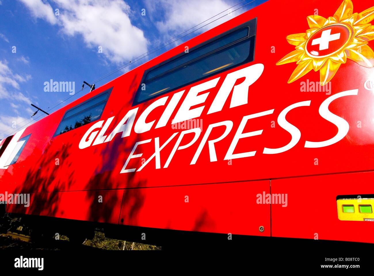 Glacier Express, Switzerland, Valais - Stock Image