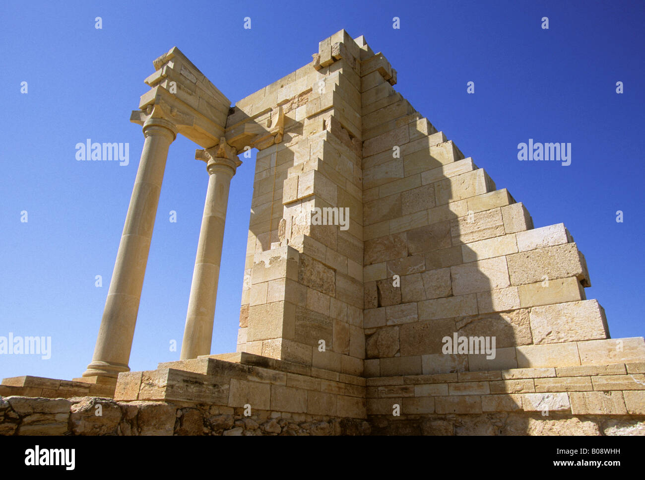 Temple of Hylates (later likened to Apollo) in Kourion, Cyprus - Stock Image